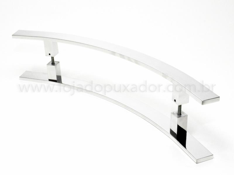 Puxador Para Portas Duplo AÇO INOX POLIDO (NOVITA). Para portas Pivotante /Madeira /Vidro/Alumínio .