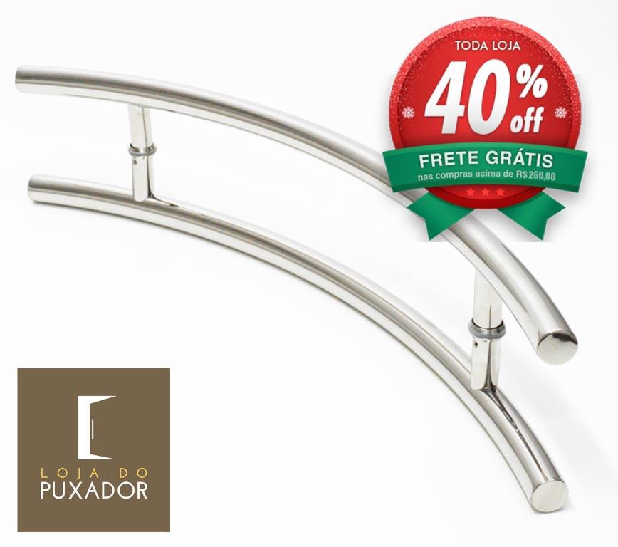 Puxador Para Portas Duplo AÇO INOX POLIDO (BELÍSSIMA). Para portas Pivotante /Madeira /Vidro/Alumínio .
