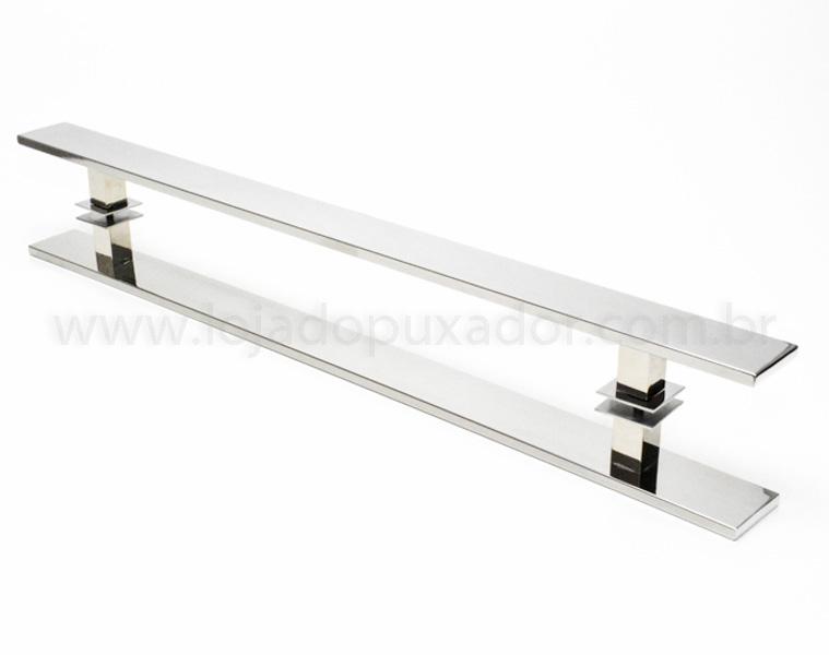 Puxador Para Portas Duplo AÇO INOX  POLIDO EXTRA LARGO (GRAND CLEAN) . Para portas Pivotante /Madeira /Vidro/Alumínio .