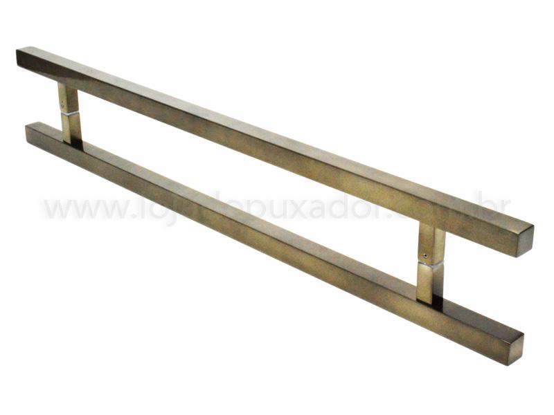 Puxador Para Portas Duplo AÇO INOX  OURO VELHO ANTIQUE (ARISTOCRATA). Para portas Pivotante /Madeira /Vidro/Alumínio .