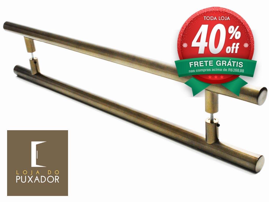 Puxador Para Portas Duplo AÇO INOX  OURO VELHO ANTIQUE (GRAND SOFT). Para portas Pivotante /Madeira /Vidro/Alumínio .