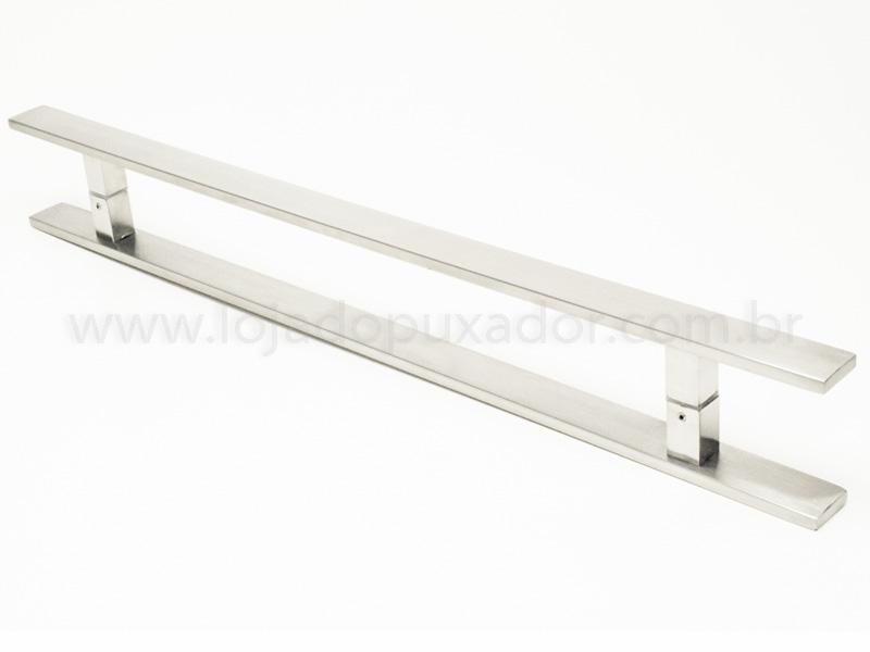 Puxador Para Portas Duplo AÇO INOX ESCOVADO (CLEAN) . Para portas Pivotante /Madeira /Vidro/Alumínio .