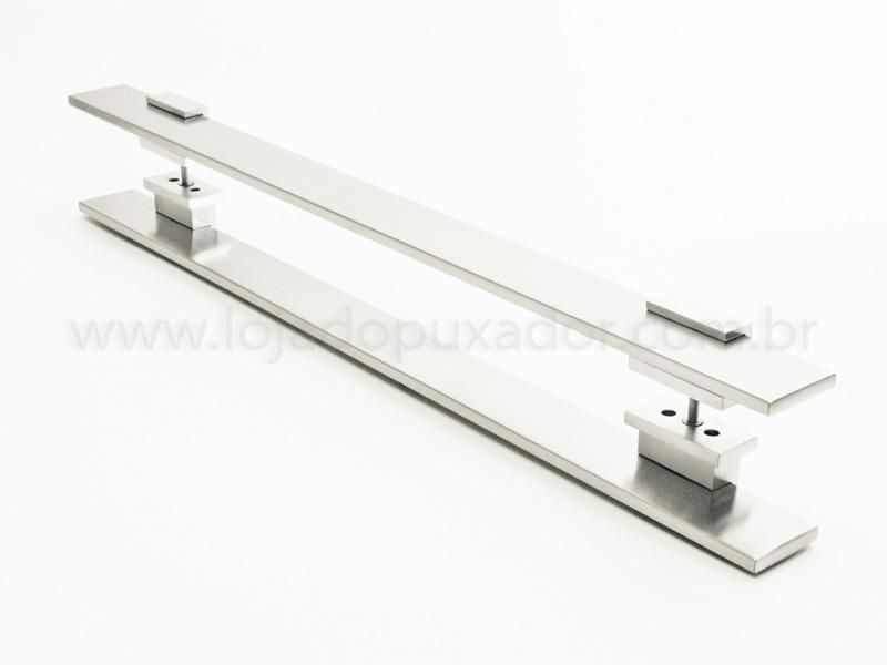 Puxador Para Portas Duplo AÇO INOX ESCOVADO (TAURUS).