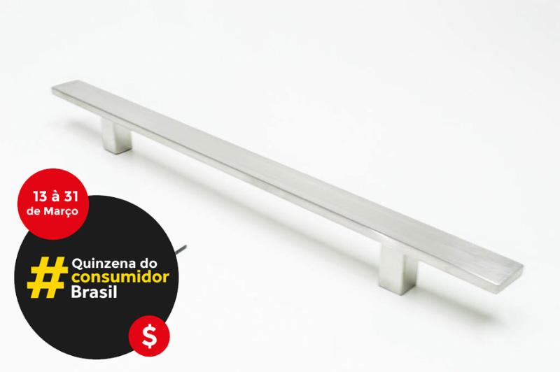 Puxador Para Portas (1 LADO)AÇO INOX ESCOVADO - CLEAN.