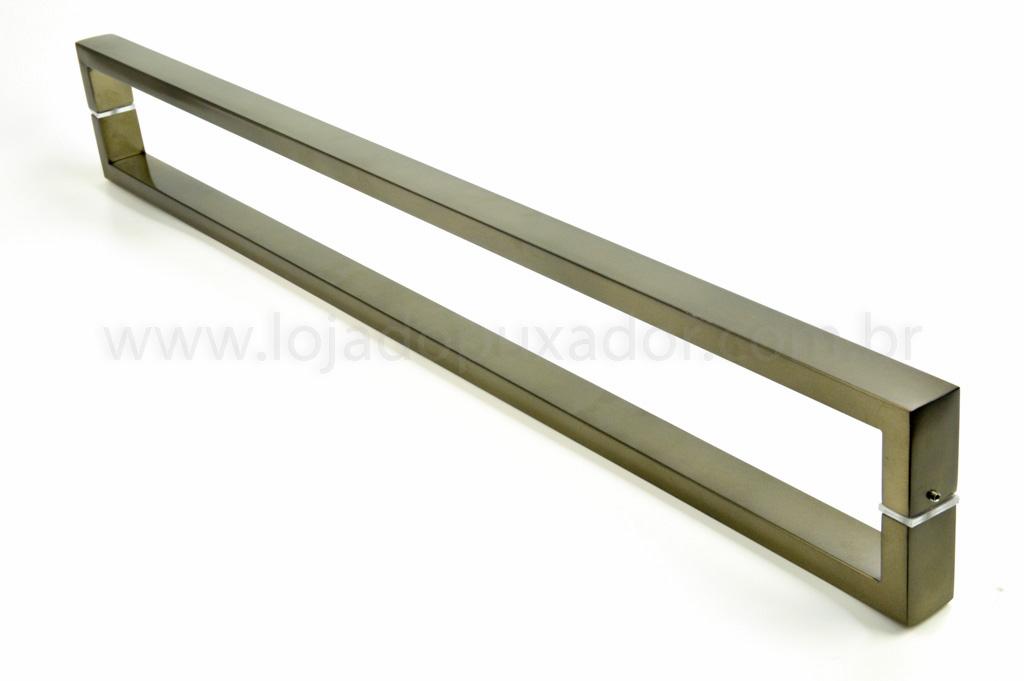 Puxador Para Portas Duplo AÇO INOX OURO VELHO ANTIQUE (GRECO). Para portas Pivotante /Madeira /Vidro/Alumínio .