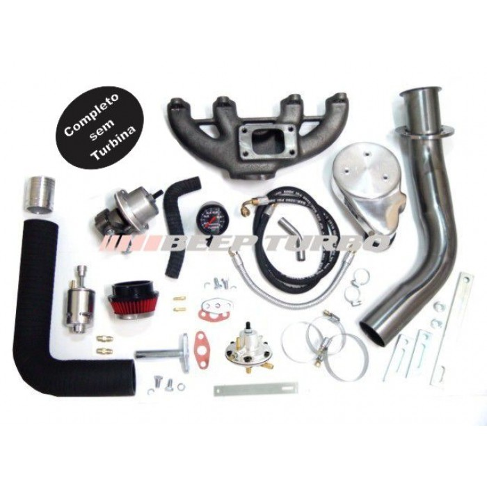 Kit turbo VW - AP - CLI - 1.6 / 1.8 / 2.0 c/ AR + DIR sem Turbina