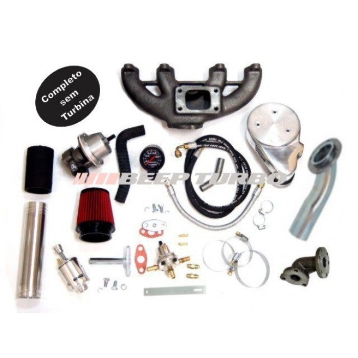 Kit turbo VW - AP Carburado Transversal - 1.6 / 1.8 / 2.0 sem Turbina