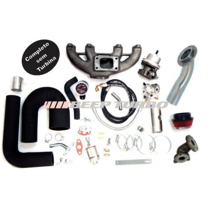 Kit turbo VW - AP Transversal MI 1.6 / 1.8 / 2.0 (Mangueira)sem turbina