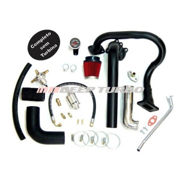 Kit turbo VW - AR - Fusca 1.3 - Carburador Simples ou Injeção sem Turbina