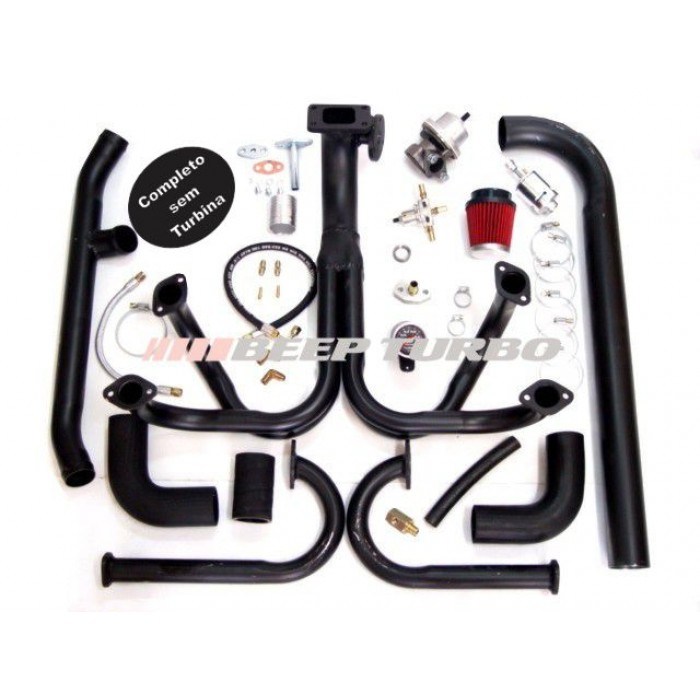 Kit turbo VW - AR - Fusca 1.8 Aranha Completa sem Turbina