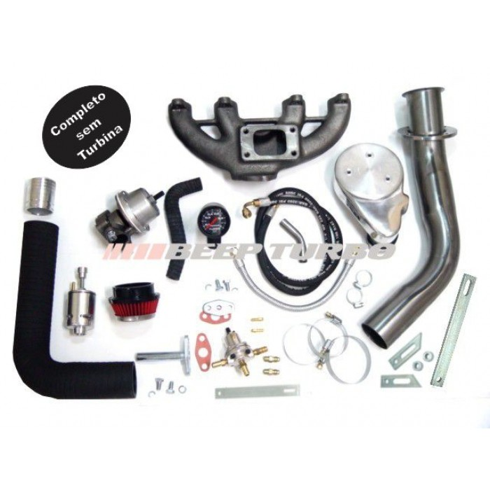 Kit Turbo Vw - AP Carburado com Ar Cond. e Direção Hidr.- 1.6 / 1.8 / 2.0 sem Turbina