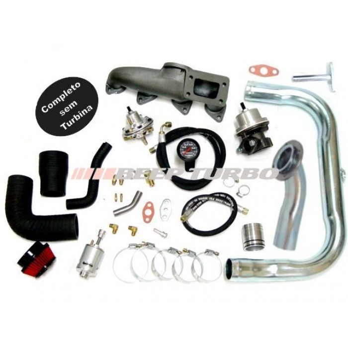 Kit turbo GM - Astra/Vectra - 2.0/2.2 - 8V ( Até 2002 ) sem turbina