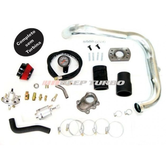 Kit turbo GM - Corsa / Celta 1.0/1.6 - MPFI - sem Turbina