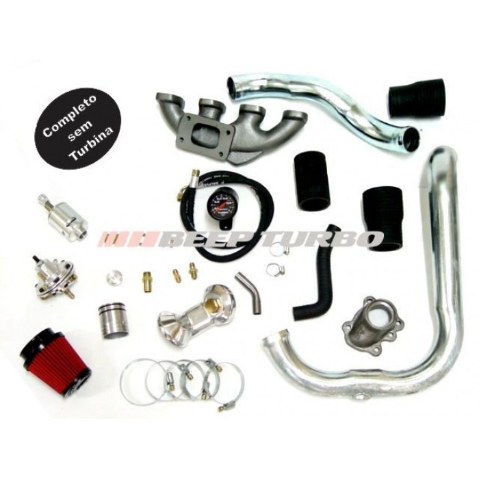 Kit turbo GM - Corsa / Prisma - 1.4 sem Turbina