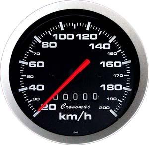 Velocímetro /100mm/200Kmh/Mec./Sport