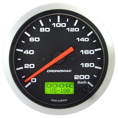 Velocímetro /100mm/200Kmh/Elétr./Sport