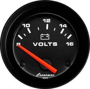 Voltímetro/52mm/Elétr./12V/Street
