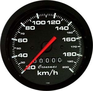 Velocímetro /100mm/200Kmh/Mec./Street