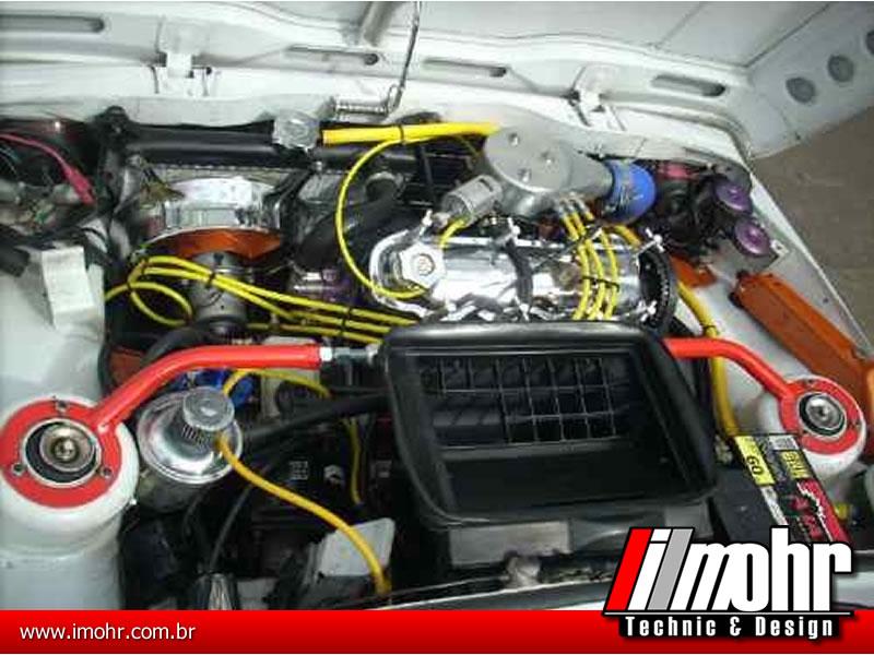 Barra Anti-torção Superior Dianteira Regulável - Fiat 147