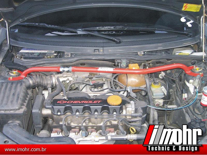 Barra Anti-torção Superior Dianteira Regulável - GM Corsa Classic