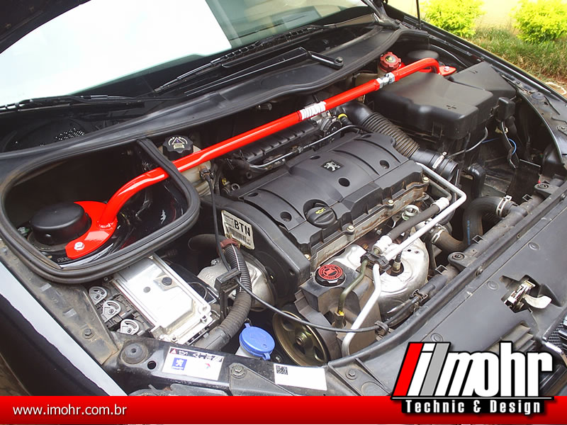 Barra Anti-torção Superior Dianteira Regulável - Peugeot 206/207