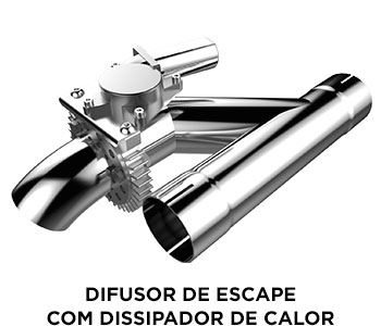SuperEdition Difusor de Escape com Dissipador de Calor