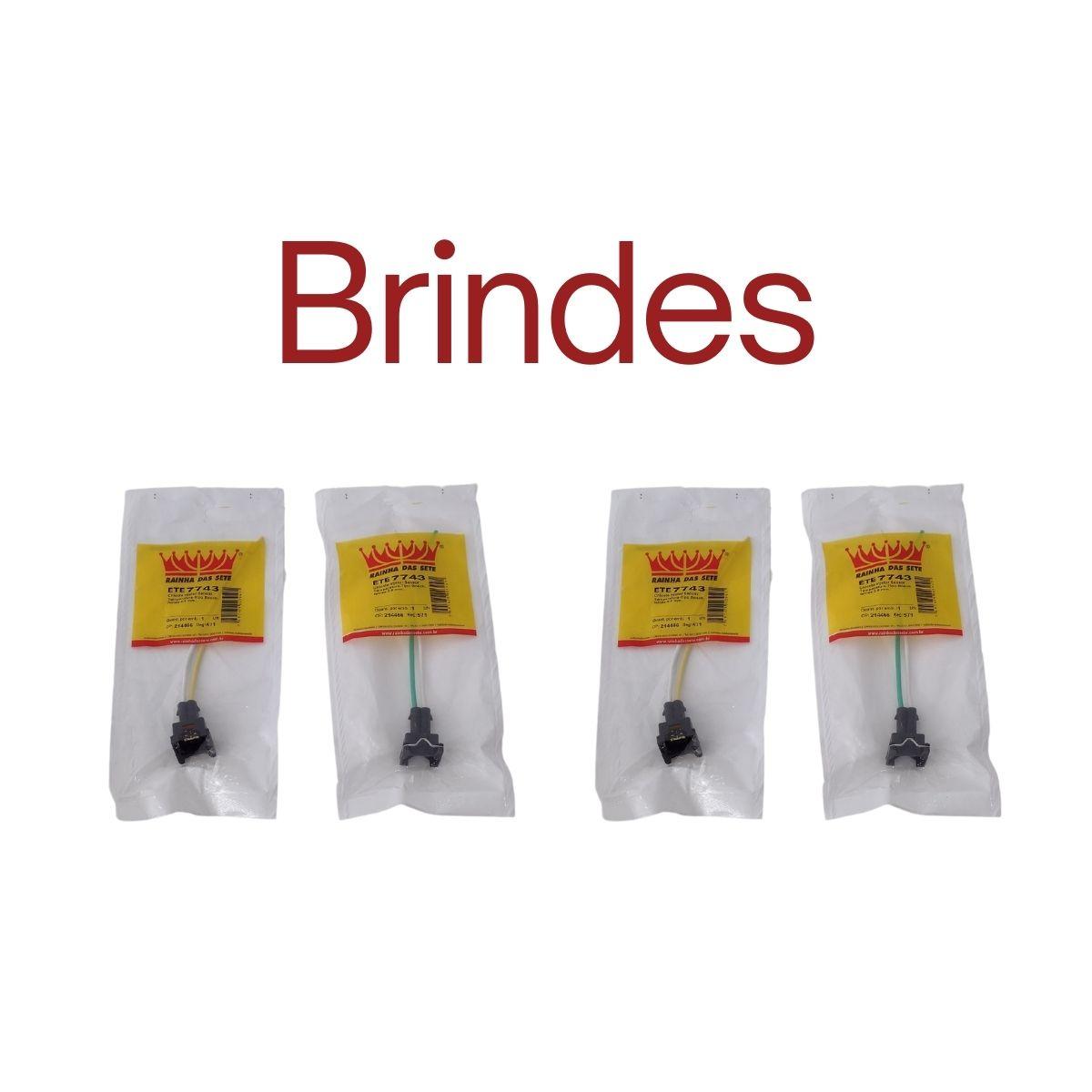 4 Bicos Injetor Longo 80lbs Fi114992 + Conector + Brindes - Alta Impedância