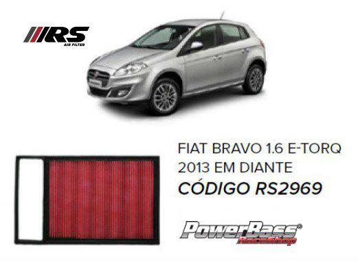 Filtro De Ar Esportivo In Box Fiat Bravo + Brinde