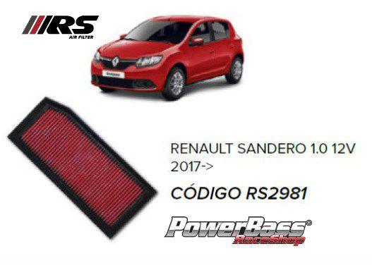 Filtro De Ar Esportivo In Box Renault + Brinde