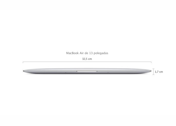 Notebook Apple MacBook Air MD760 - Intel i5 Core, 4 GB de memória, SSD 128 GB, Thunderbolt, USB 3.0, Câmera FaceTime HD, Tela LED 13.3