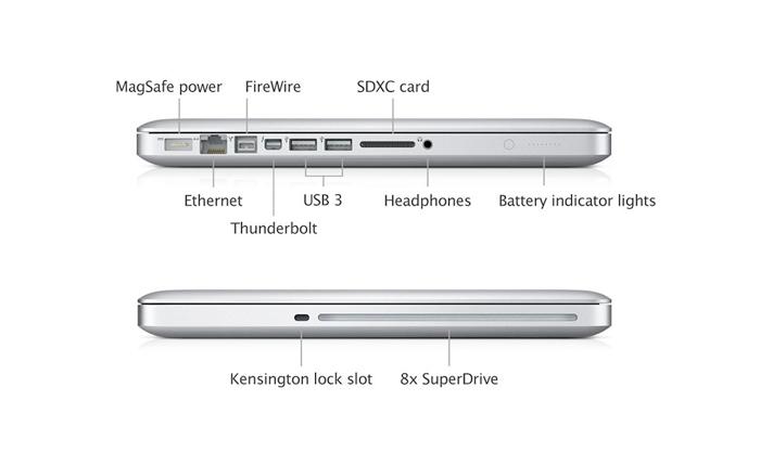 Notebook Apple MacBook Pro MD101 - Intel i5 Core, Memória de 16GB, HD 500 GB, Thunderbolt, USB 3.0, Câmera FaceTime HD, Tela LED 13.3