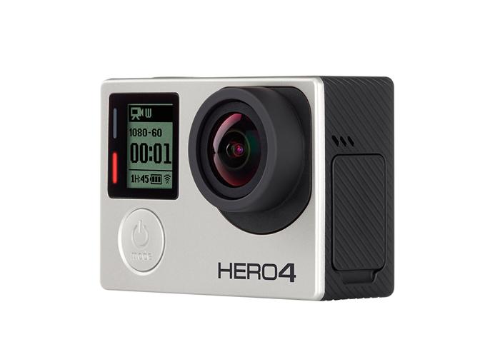 Câmera Filmadora GoPro Hero 4 Silver Adventure   LCD  - Resolução 1080p60, 12MP, SuperView, Wi-Fi, Bluetooth, Prova d'água até 40m *