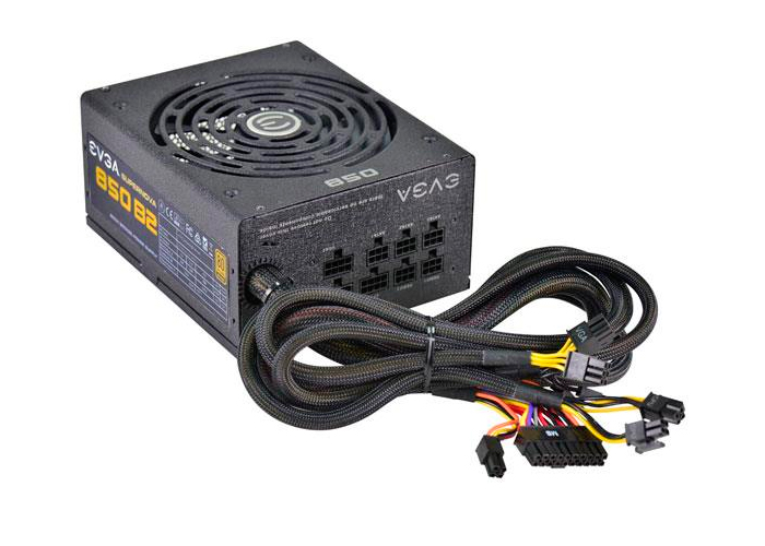 Fonte EVGA 850W - 80 Plus -  PFC Ativo, Semi Modular *