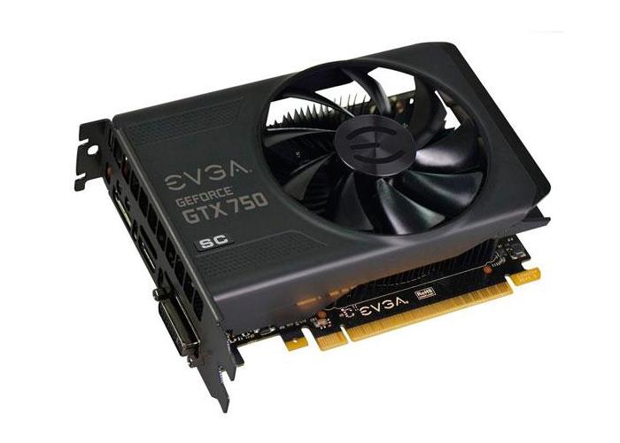 Placa de Vídeo Geforce GTX750 EVGA - SuperCloked Mem. 2GB GDDR-5, Processador Cuda Dual 512, Clock 5012 MHz, DVI, MINI-HDMI