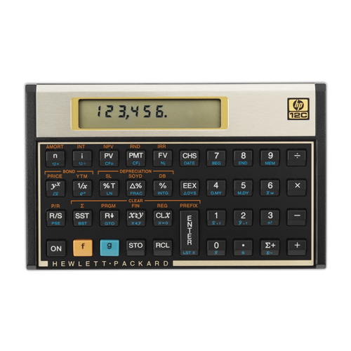 Calculadora  HP Financeira 12C - Entrada RPN *