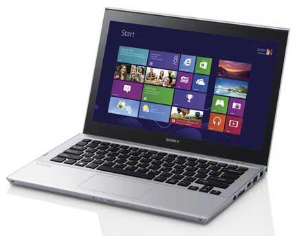 Ultrabook Sony Vaio SVT13 124CXS Intel Core i3 (3ª Geração), Memória 4GB, HD 500GB + SSD 32GB, USB 3.0, Tela LED 13.3? TOUCHSCREEN e Windows 8