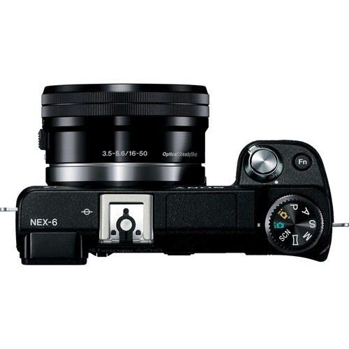 Câmera Digital Sony DSLR NEX-6L (16.1 MP, LCD 3.0´, Wi-Fi, Foto Panorâmica, Reconhecimento de Face e Sorriso, Vídeo Full HD + lente 16-50mm Sony SEL1650)