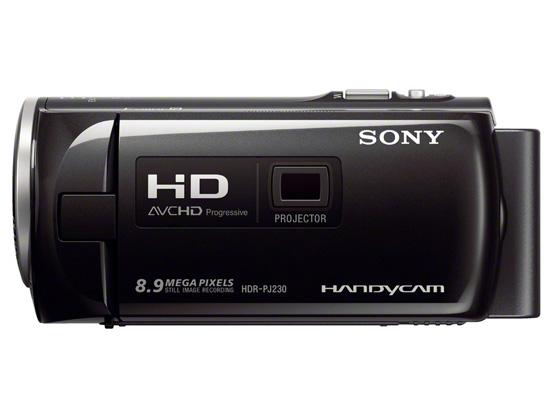 Filmadora Sony HDR-PJ230 (Full HD, LCD 2,7´, Zoom Óptico 32x, Projetor, HDMI, Memória 8GB)
