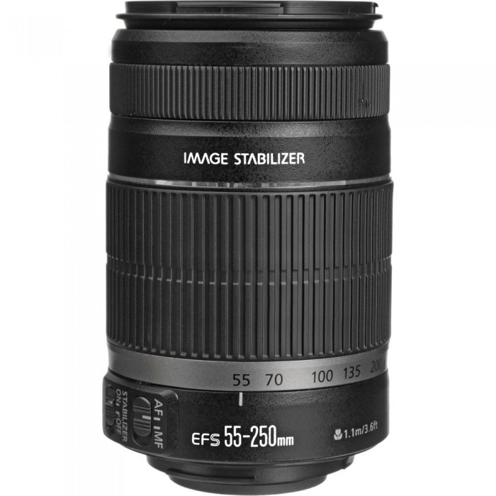 Lente Objetiva Canon EF-S 55-250mm - F/4-5.6 IS II *