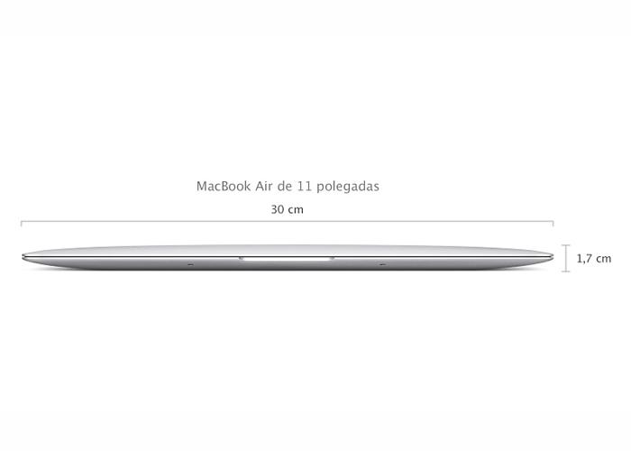 Notebook Apple MacBook Air MD711 - Intel i5 Core, 4 GB de memória, SSD 128 GB, Thunderbolt, USB 3.0, Câmera FaceTime HD, Tela LED 11.6