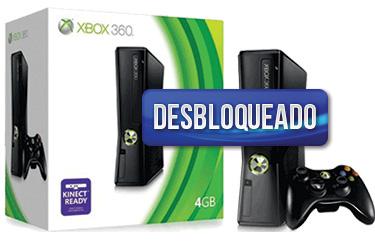 Xbox 360 Slim Arcade 4GB Kinect Ready (Sensor não incluso) DESBLOQUEADO  + Cabo HDMI de brinde