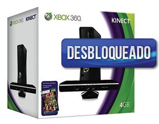 Xbox 360 Slim Arcade 4GB + Sensor Kinect (DESBLOQUEADO)  + Cabo HDMI de brinde