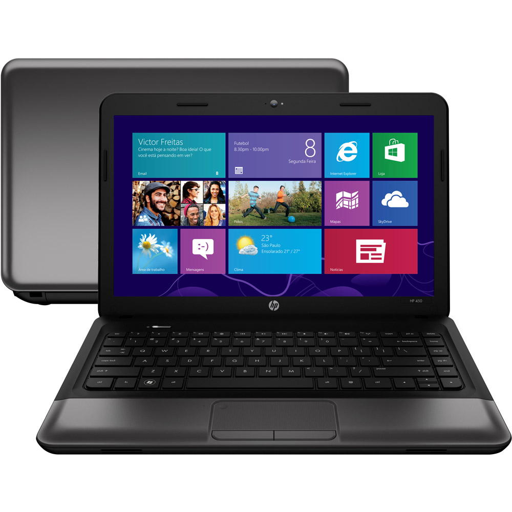 "Notebook HP 1000-1460 Intel Core i5, Memória 6GB, HD 500GB, DVD, Tela LED 14.1"" e Windows 8 (showroom)"
