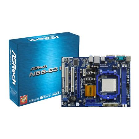 Placa Mãe ASRock AMD N68-S3 - FX DDR3 AM3, Frequência até 1.333MHz, Dual Channel, PCI Express x16