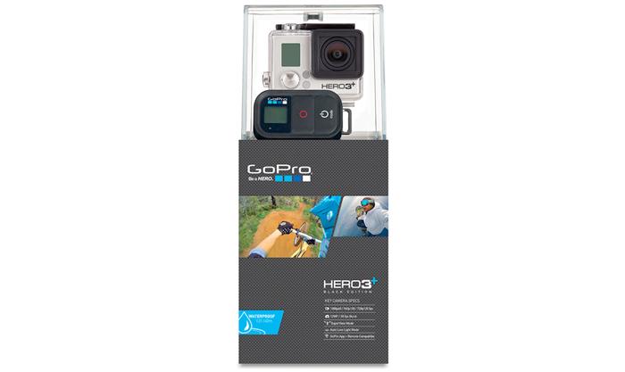 Câmera Filmadora GoPro Hero 3 + Black Edition - Full HD 1080p@60fps, 12 Megapixels, SuperView Mode, Controle Remoto Wi-Fi, Prova d`água até 40m, Até 10 disparo por segundo, Conexão Wi-Fi