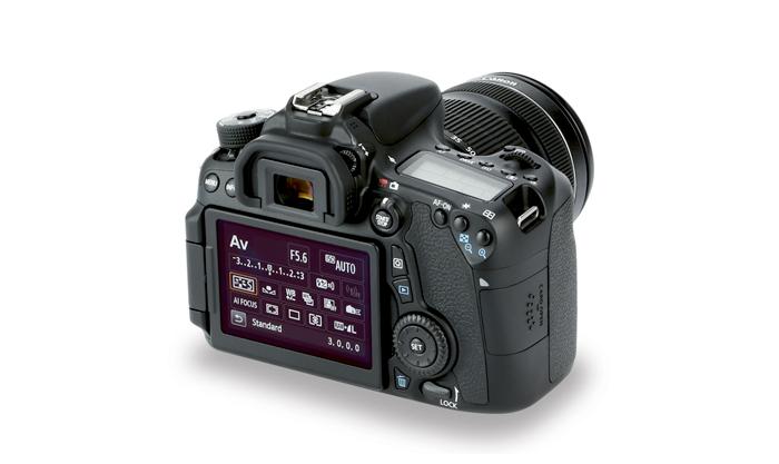 Câmera Digital Canon EOS 70D (Somente corpo) - Dual Pixel, 20.2 MP, Sensor CMOS, Vídeo Full HD, DIGIC 5+, 7 FPS, Wi-Fi, Tela Rotativo 3