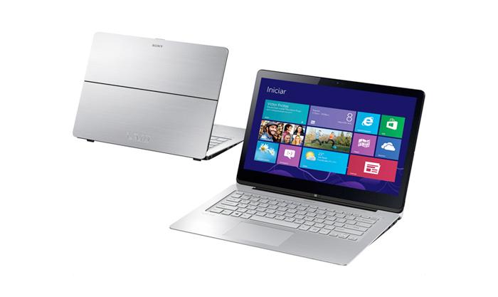 Notebook Sony Vaio Ultrafino Conversível 2 em 1 Multiflip, Core i3 (4ª geração), mem. 4GB, HD 500GB,  LED Full HD 14´ TOUCHSCREEN