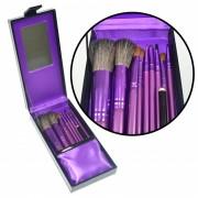 Kit de Pinc�is para Maquiagem Luxo com 10 Pinc�is