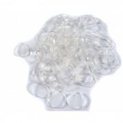 Mini El�sticos Transparentes para Penteados 200 unidades