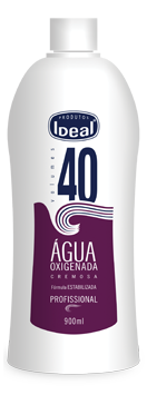 Água Oxigenada Cremosa 40 Volumes 900ml - Ideal